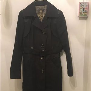 MACKAGE WITH LEATHER TRIM MID JACKET